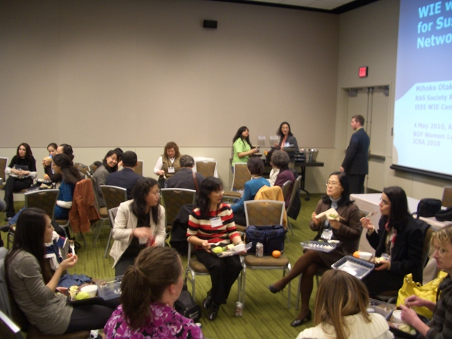 BOF Women Luncheon at ICRA 2010: Round table discussion