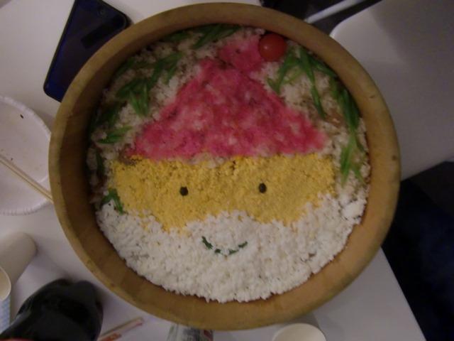 2013年12月サンタクロースのちらし寿司